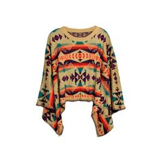 Tribal Prints ($45) ❤ liked on Polyvore featuring tops, shirts, sweaters, outerwear, shirt top, tribal shirts, tribal pattern shirts, tribal top and ethnic print top