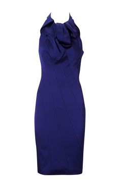 Karen Millen Glamorous Halter Dress Blue ,fashion  Karen Millen Solid Color Dresses outlet