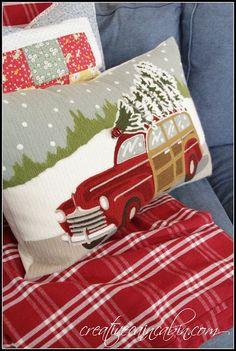 Pottery Barn Woody Pillow | Christmas Decor | Christmas Pillow |CreativeCainCabin,cin