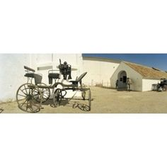 Horse cart in front of a hotel Hotel Cortijo El Esparragal Gerena Seville Seville Province Andalusia Spain Canvas Art - Panoramic Images (36 x 13)