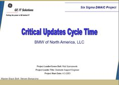 Critical Updates Six Sigma Case Study