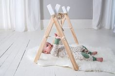 Baby Play Gym and Mobile accessories  - Baby Activity Gym - Wooden Baby Play Gym - Activity Gym - Wooden Mobile - First Christmas- Boho