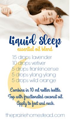 Essential Oils For Sleep I love this doTERRA liquid sleep blend recipe-- it's what I use when my brain won't shut off at night.I love this doTERRA liquid sleep blend recipe-- it's what I use when my brain won't shut off at night. Sleeping Essential Oil Blends, Essential Oils For Sleep, Essential Oil Uses, Doterra Essential Oils, Young Living Essential Oils, Essential Oil Diffuser, Doterra Oils For Sleep, Essential Oils For Fibromyalgia, Roller Bottle Recipes