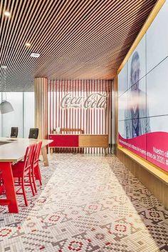 Suelo de diseño #ArtFactoryHisbalit Coca Cola, Mosaic Floors, Divider, Flooring, Outdoor Decor, Room, Furniture, Home Decor, The Office