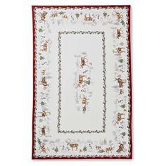 Snowman Tablecloth #williamssonoma