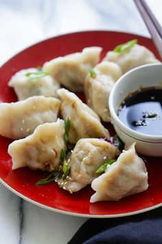 Pork and Chive Dumplings - juicy and delicious Chinese dumplings ...