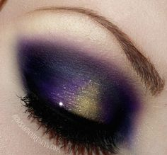 @Carrie Mcknelly Mcknelly Mcknelly Newman for your next vikings game  Purple and gold for brown eyes!