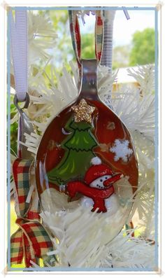 Christmas Ornament, Silver Plated Spoon $15.00