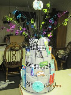 Adult Diaper Cake by HeartofCrafting on Etsy, $30.00
