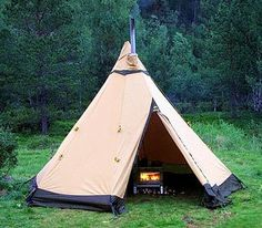 Camping isn't about being cold and damp. Our Adventure tents are all designed t… Camping isn't about being cold and damp. Our Adventure tents are all designed to be used with a stove. Auto Camping, Camping Stove, Tent Camping, Camping Gear, Camping Hacks, Outdoor Camping, Glamping, Backpacking, Bushcraft Camping