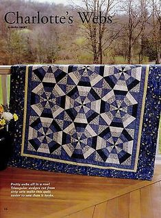 Charlotte-039-s-Webs-Finished-Size-57-034-x57-034-Quilt-pattern-only