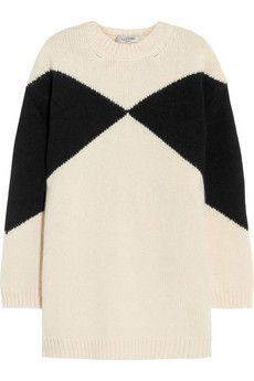 Valentino Oversized intarsia wool sweater | NET-A-PORTER