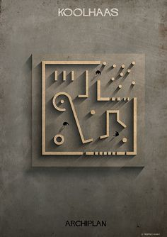 federico babina dissects famous floor plans as architectural labyrinths (Brilliant) Rem Koolhaas
