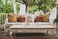 Garden Wedding Venue | Vintage Furniture from @Southern Events - Photo: Ulmer Studios