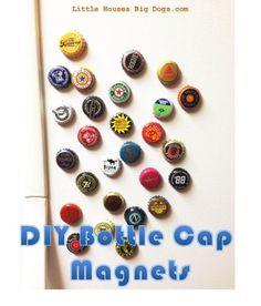 diy gift beer bottle cap refrigerator magnets