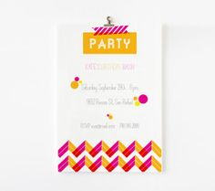NEON Party - birthday or bridal shower : fashion forward and trendy!