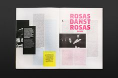 typography, color, graphic, design, layout, grid, spread, pink,