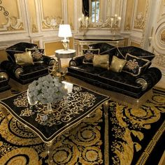 What a magnificent The most bold interior design ideas were turned into life by our designers!📞📞📞We will offer the superior design projects! Home Design, Home Interior Design, Villa Design, Versace Furniture, Luxury Furniture, Mansion Interior, Luxury Homes Interior, Versace Home, Sofa Set Designs