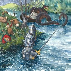 This is the story of young John Lambton who ended up Brave Sir John Lambton who wished he'd never gone fishing. Mythological Creatures, Mythical Creatures, Young John, North East England, Very Scary, Gone Fishing, History Facts, My Favorite Music, Worms