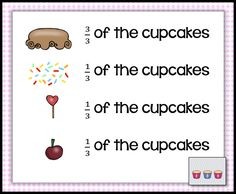 Fractions - Fraction Cupcakes - Build a Cupcake - Fraction Task ...