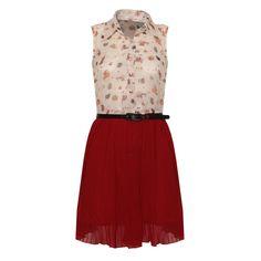 Printed Shirt Pleat Dress Buy Online