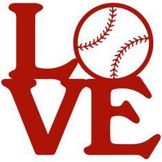Silhouette Design Store - View Design #123479: baseball love stack
