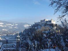 Festung Hohensalzburg in winter