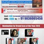 Katrina Kaif, Virat Kohli, Kiran Bedi, Jaipal Ramesh, Shailendra Singh are in the Race for Brand Icon of The Year 2013