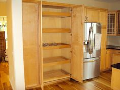 built in kitchen pantry cupboards | built in pantry cabinet and broom closet to exisitng kitchen clear ...