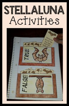 Stellaluna Bat Activities for the Month of October and Halloween time of year! Interactive Notebooks, Printables, worksheets, and PowerPoint that you can edit! Interactive Activities, Interactive Notebooks, Bat Facts, Stellaluna, Book Study, Halloween Activities, Elementary Teacher, Language Arts, Worksheets