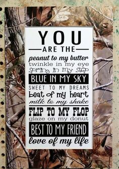 Realtree Wedding Shower Gift Home Decor by BluffViewDesign on Etsy, $20.00