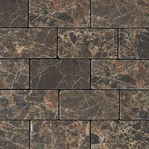 Emperador Dark Brick Joint Tumbled - Marble Collection by daltile