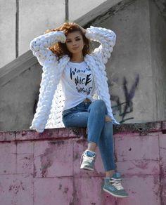Кардиган Шиншилла (Лало) спицами одним полотном Harajuku, Style, Fashion, Swag, Moda, Fashion Styles, Fashion Illustrations, Outfits