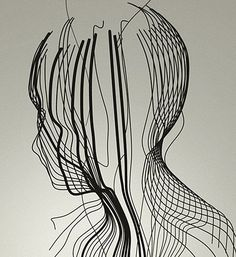 ♥ Wire  I love the different thicknesses in wire used to create the form of the head