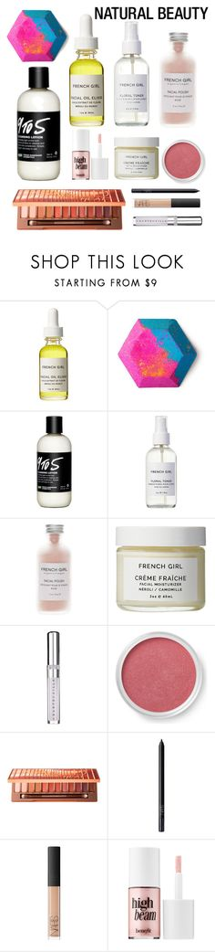 """Natural"" by very-loud-girl ❤ liked on Polyvore featuring beauty, French Girl, Chantecaille, Bare Escentuals, Urban Decay, NARS Cosmetics and Benefit"