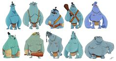 TROLLS SKETCHES by Olivier SILVEN, via Behance