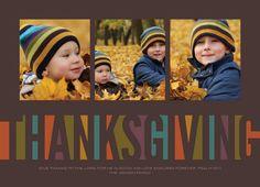 Block Thanksgiving Card