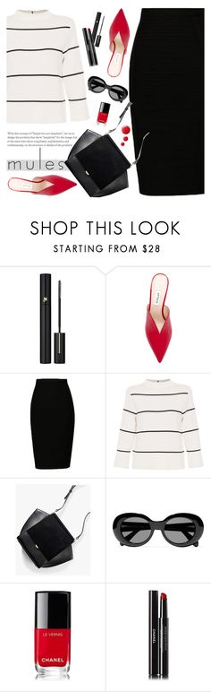 """""""Slip 'Em On: Mules"""" by tamara-p ❤ liked on Polyvore featuring Lancôme, Attico, L.K.Bennett, Acne Studios, Chanel and mules"""
