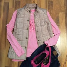 Pink & White Stripe Ruffle Henley Size S Pink and white stripe ruffled Old Navy henley tee. Size small. Minimal to no signs of wear. Smoke free home. No trades, PayPal, or outside sales. Will ignore lowball offers. Old Navy Tops Tees - Long Sleeve