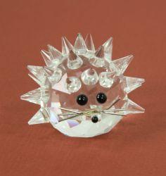 Vintage Swarovski Crystal Hedgehog Porcupine 7630 - Glass Animal Figure Retired