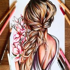 Comment belowPencils I used: Stabilo original and Stabilo pen you all for your lovely comments and tysm for . Pencil Art Drawings, Art Drawings Sketches, Cute Drawings, Hair Drawings, Stabilo Pen 68, Hair Sketch, Color Pencil Art, Human Art, How To Draw Hair