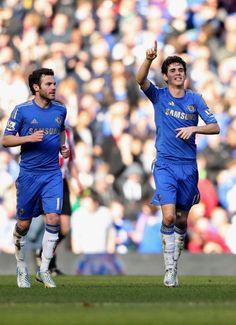 Oscar goal - Chelsea FC 4 - Brentford 0.[FA CUP REPLAY]