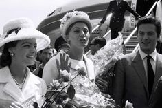 Arriving at Cannes in 1962 with Romy and Sophia Loren.