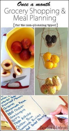 Once a month grocery shopping and a clever meal planning system for the non-planning-types {Sawdust and Embryos)