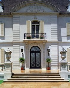 Architect Maurice Fatio Designed French Chateau Home in Preston Hollow - Photograph 4527 House Design, Building Front, Home, Door Gate Design, French Architecture, English House, French Style Homes, Exterior Doors, House Exterior