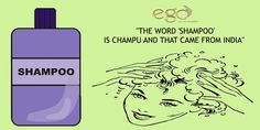 """THE WORD '‪#SHAMPOO‬' IS CHAMPU AND THAT CAME FROM #INDIA‬"" Via: www.goego.in"