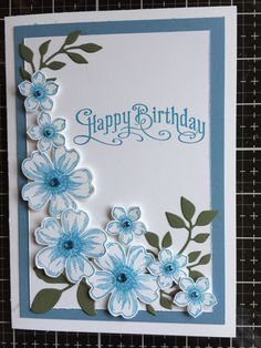 Female Birthday Cards Unique Pin by Carole Jepsen On Flower Shop Cards - Birthday Cards For Mother, Homemade Birthday Cards, Birthday Cards For Women, Mothers Day Cards, Happy Birthday Cards, Homemade Cards, Female Birthday Cards, 21st Birthday, Making Greeting Cards