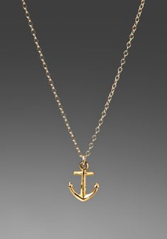 GORJANA Anchor Necklace in Gold at Revolve Clothing - $44