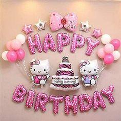 Happy Birthday Kind, Hello Kitty Birthday Theme, Birthday Wishes For Kids, Happy Birthday Wishes Images, Hello Kitty Themes, Happy Birthday Parties, Happy Birthday Greetings, Birthday Party Decorations, Birthday Quotes
