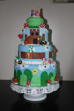My Super Mario Bros. Masterpiece :)  Best grooms cake ever, made by Gabriella's goodies!!!! Sooooo delish!!! And impeccably made too!